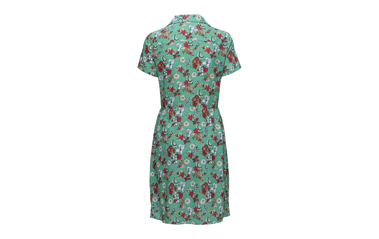 Aop Dixie Flower Klein Ming Dress Polyesterpes Jeans Combo Green 100 Calvin Ss nOw76FwT