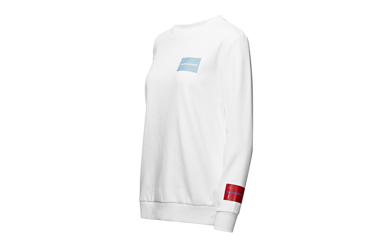 63 Polyester Klein Calvin 37 Peacoat Coton Logo Sweatshirt Jeans Multi d74nx4zBY