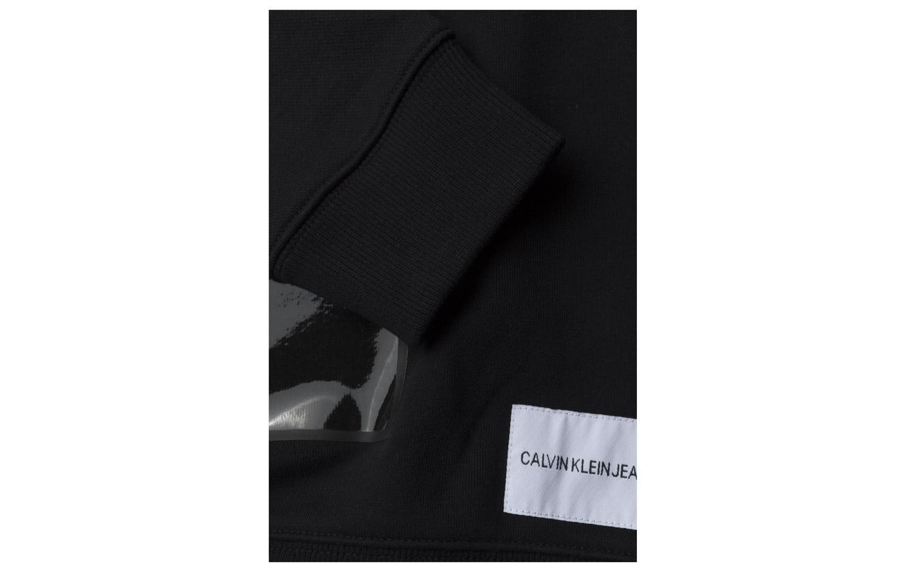 Shape Sweatshirt Geo Klein Coton Jeans Calvin Vinyl Polyester 32 Ck 68 Black qIwRnX