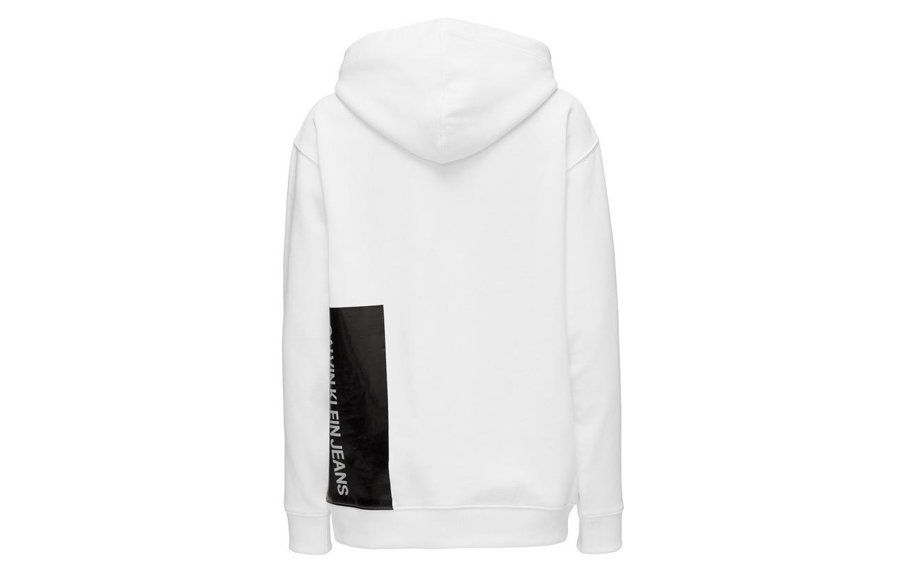 63 Bright Polyester Coton Jeans White Calvin Hoodie Klein 37 Multi Logo 0x7XFq