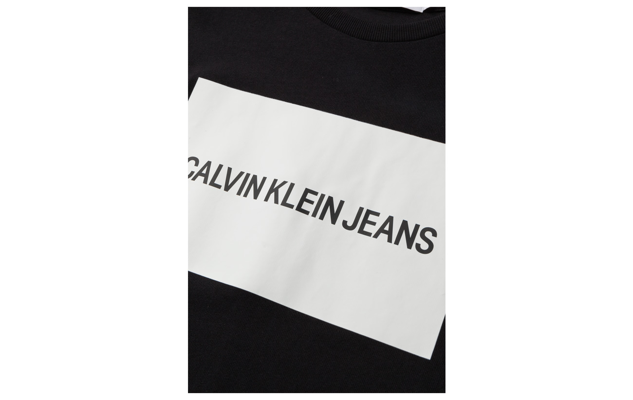 Dress Calvin Institutional Coton Box Logo Ck shirt Black 100 T Klein Jeans SSOR0x4w