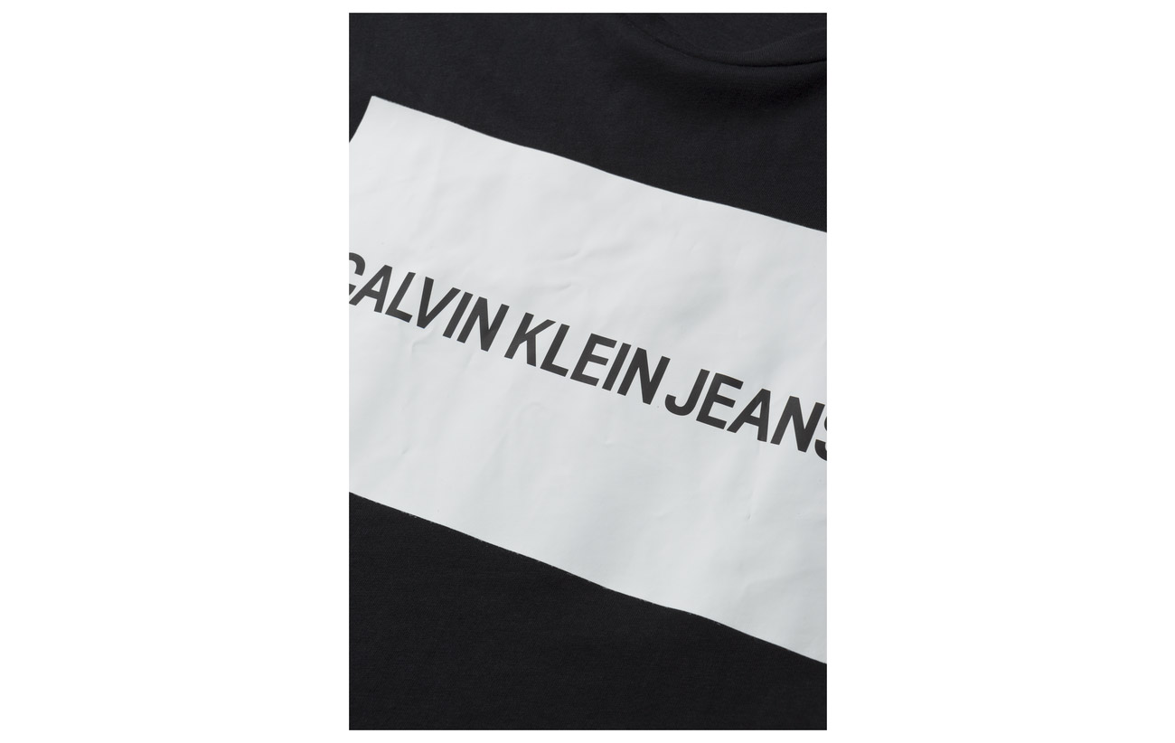 Jeans Ck Regular Coton 100 Box Klein Black Calvin Organically Fit Tee Grown Institutional Logo F85qxnwTC