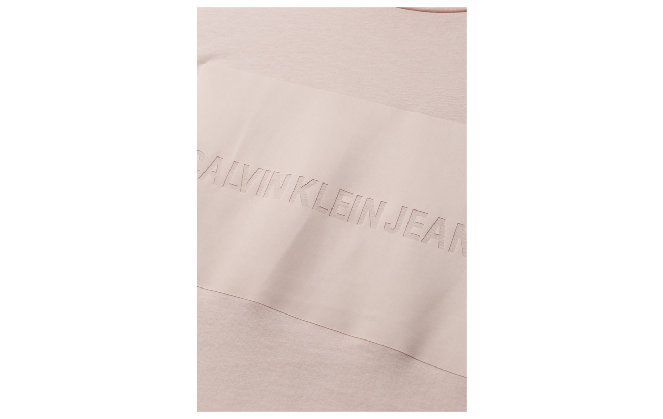 Coton Calvin White Bright Institutional Box Logo 100 Jeans Klein Satin Tee Regular qZPqaRO