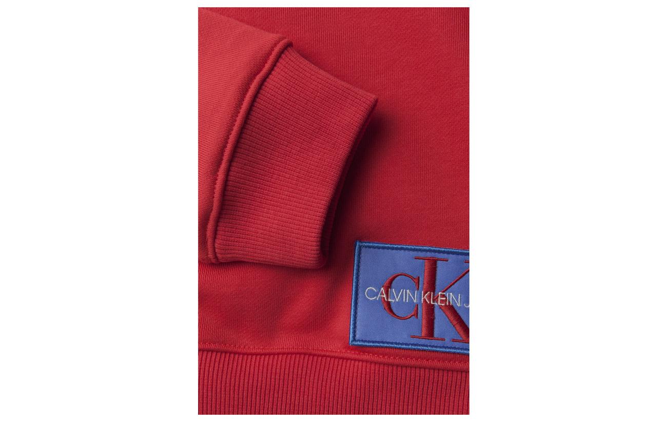 Coton 68 32 Calvin Monogram Polyester Black Sweatshirt Ck Jeans Logo Badge Klein x1wx8qvz