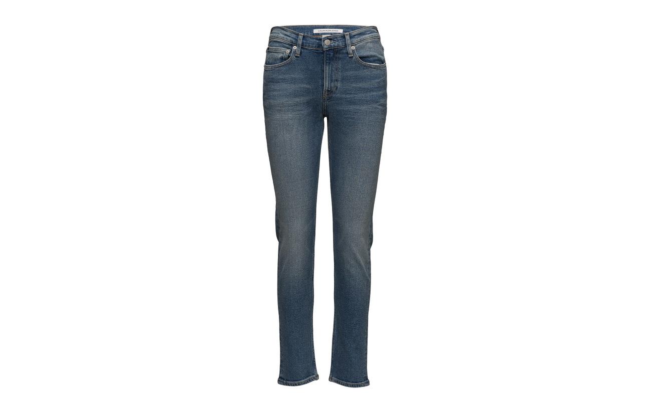 021 Rise 1 Calvin Klein Blue Slim Chico Ckj Coton West Jeans 99 Mid Elastane cqX7dXt1