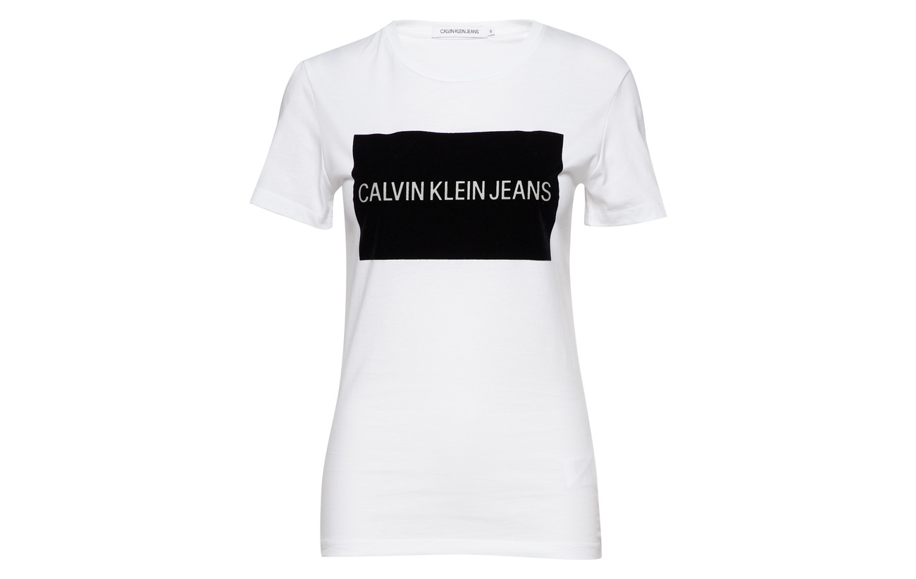 Calvin Bright Jeans Institutional Coton Klein 100 Flock White fFRqw6xBf