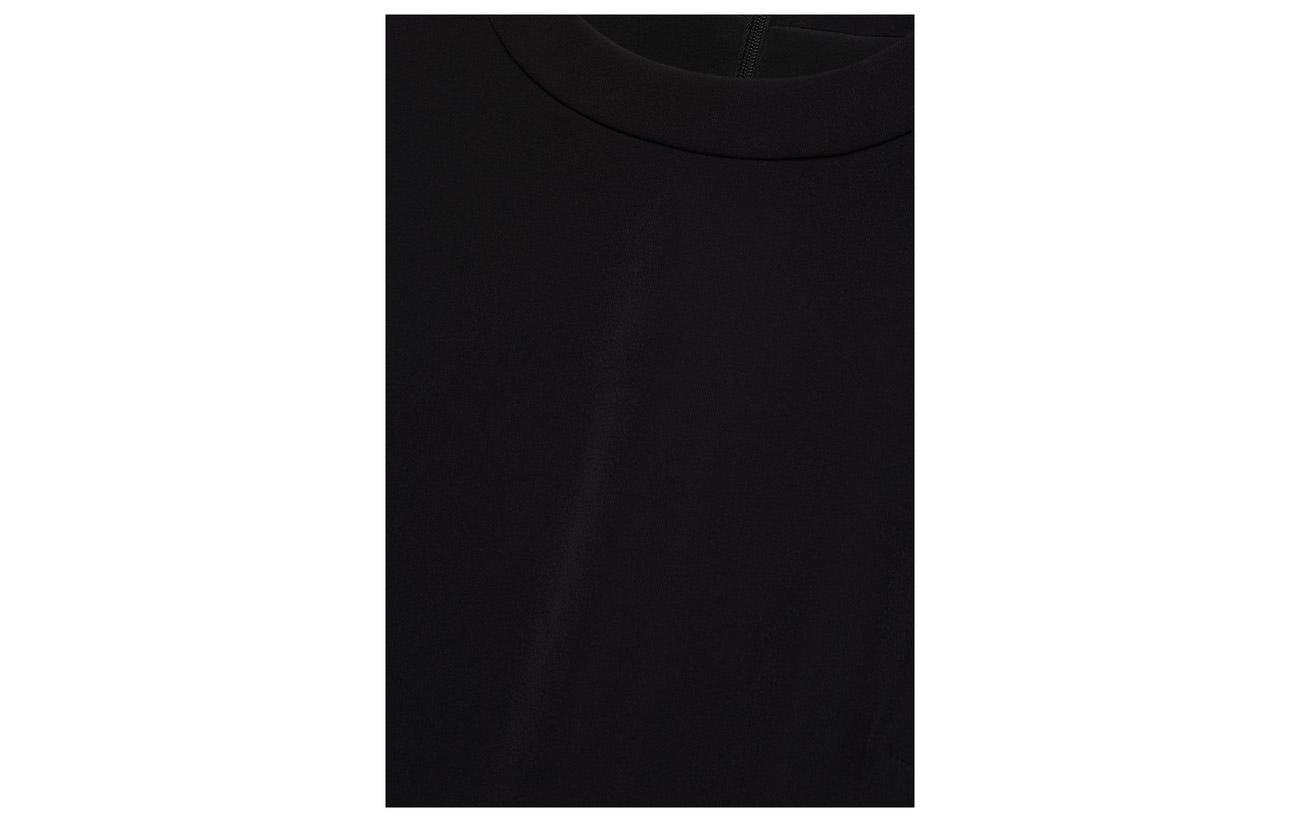 Dress Polyester Calvin Black Satin Jeans 100 Flared Ck Klein PPqHf1