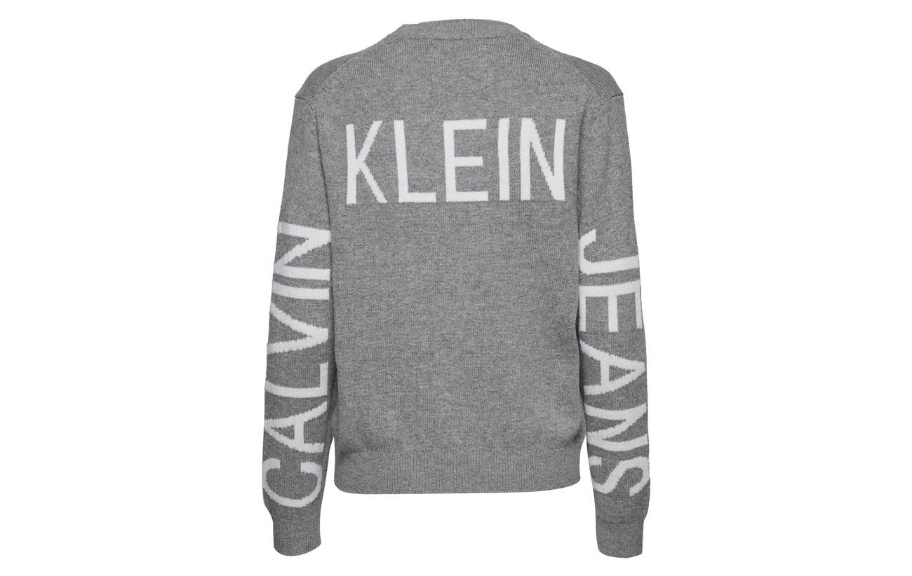 Calvin Jeans Heather Institutional 25 Klein Coton Light Polyamide L 55 Back 20 Grey Laine 5rq5wA0