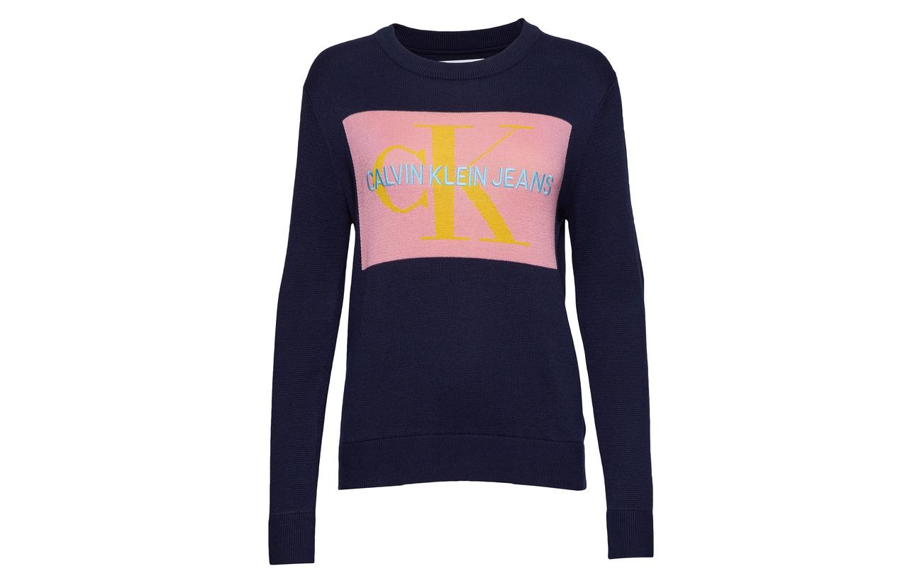 Acrylique 20 Pink Box 45 35 Calvin Coton Sweater Klein Jeans Polyamide Monogram Peacoat begonia AnHgxqw