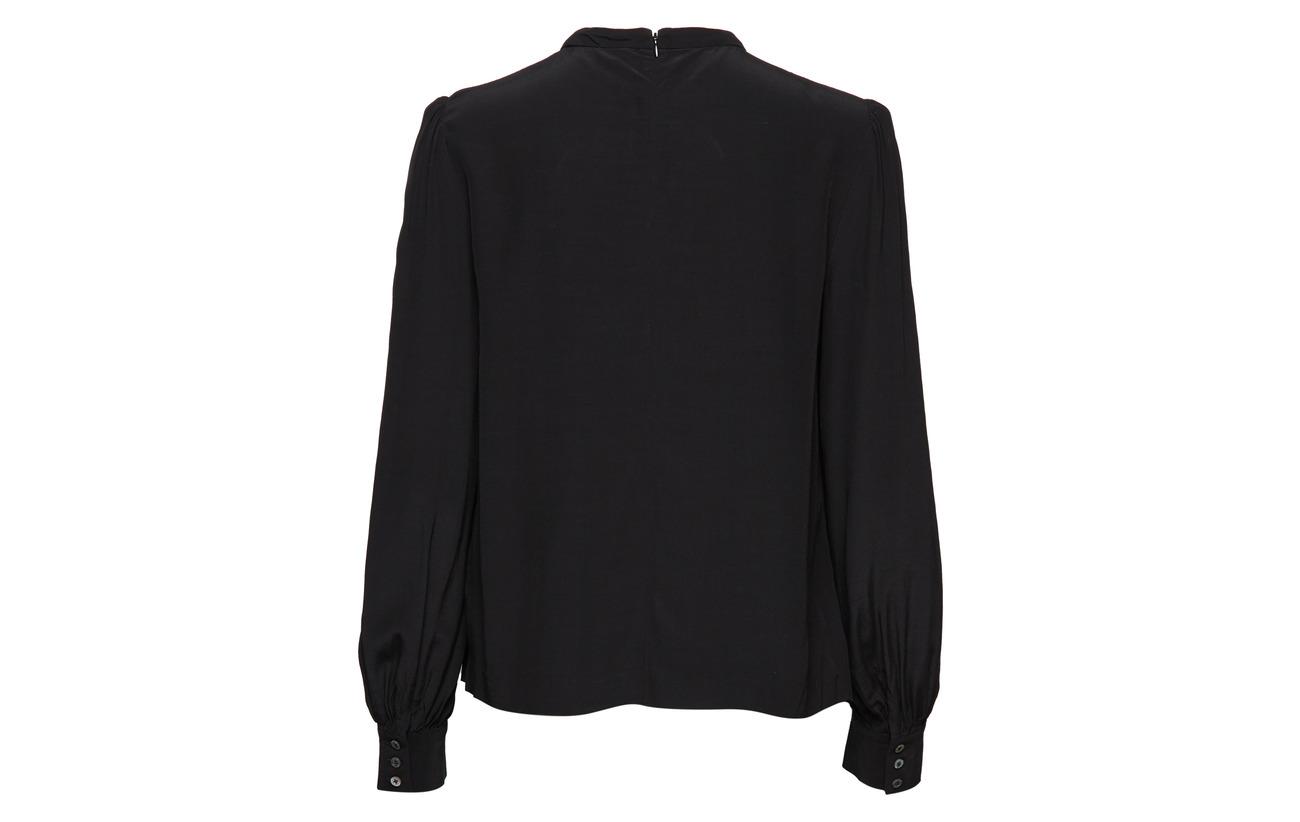 Viscose Ck Blouse 100 Black Klein Calvin Silk 09 Jeans Faux 4aZzpq