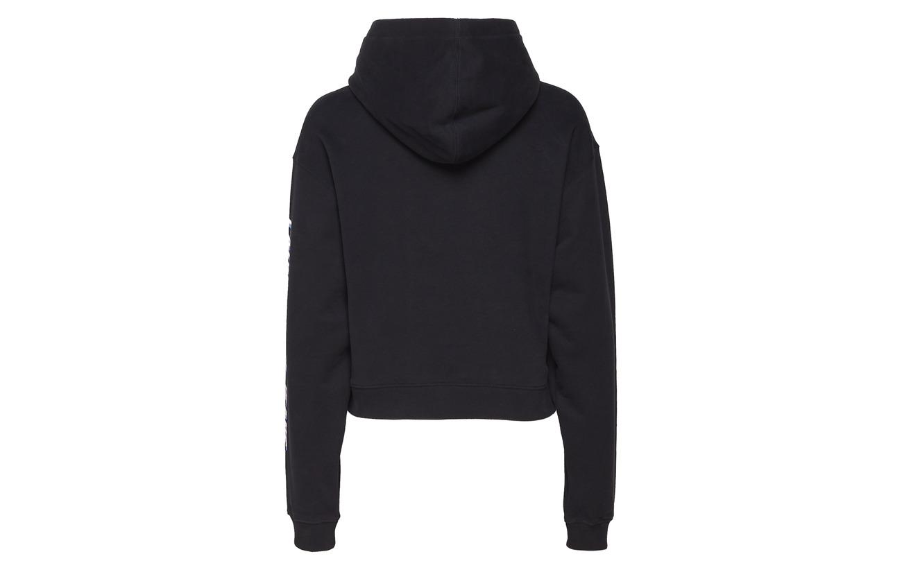 100 Coton Hoodie Sleeve Cropped Jeans Calvin Klein Tomato Logo FqOHwxSn7