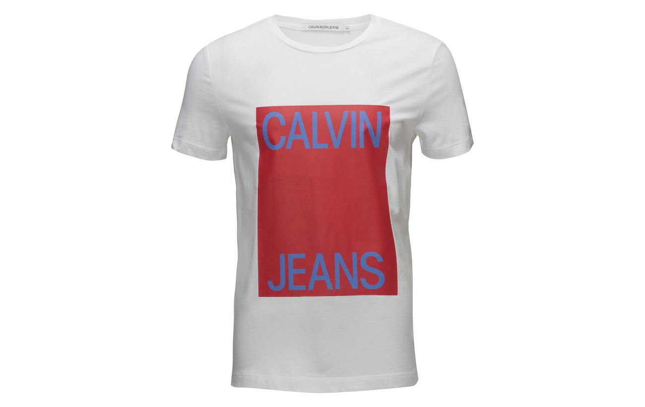 Ck Log Box Jeans Bright Calvin White Black Klein q6SFnaT
