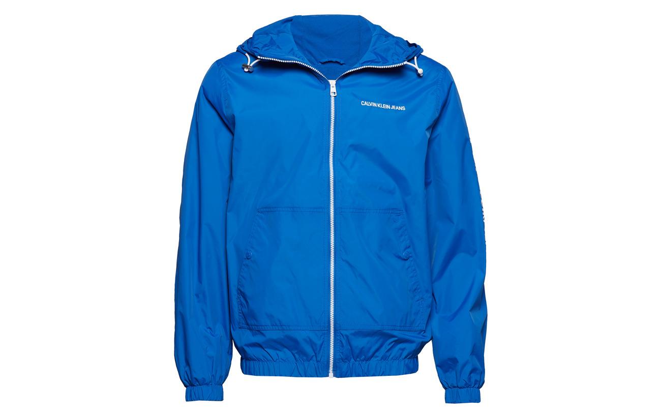 Calvin Hooded Jacket Up Klein Zip Jeans Blue Nautical rRxWraE
