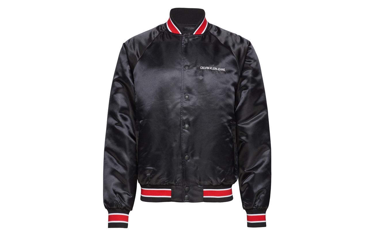 Calvin Jeans Klein Bomber Ck Black Satin TqTwzH1nr