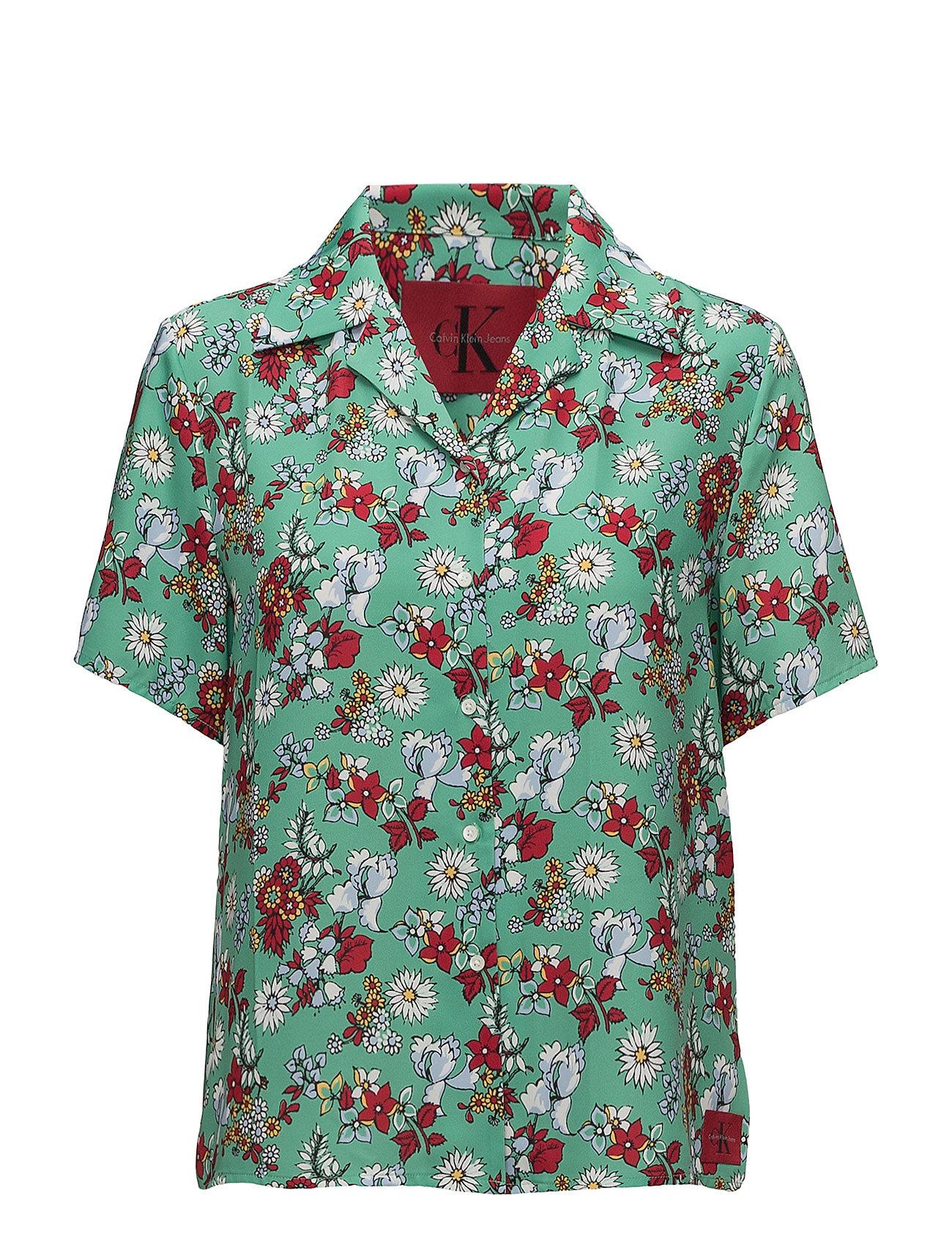 5b8da9e438d Wittoria Top kortærmede skjorter fra Calvin Klein til dame i AOP ...