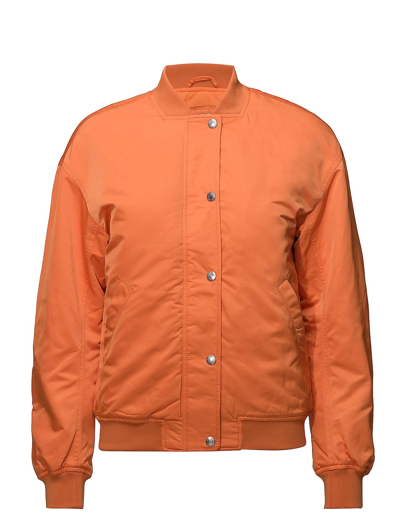 Calvin Klein Jeans SNAP BUTTON NYLON BOMBER - ORANGE TIGER 16-1358 TCX