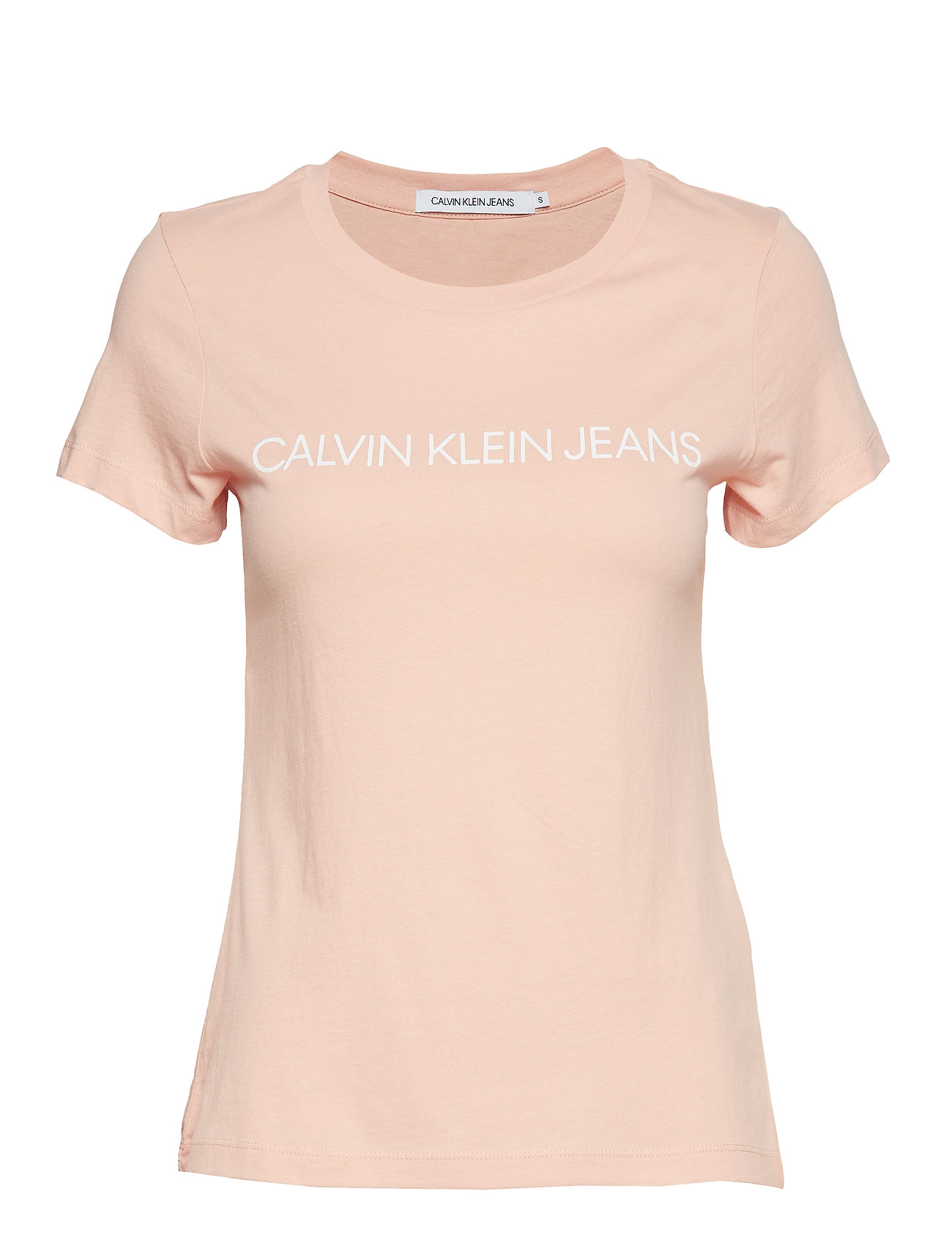Calvin Klein Jeans INSTITUTIONAL LOGO SLIM FIT TEE - BLOSSOM/ BRIGHT WHITE
