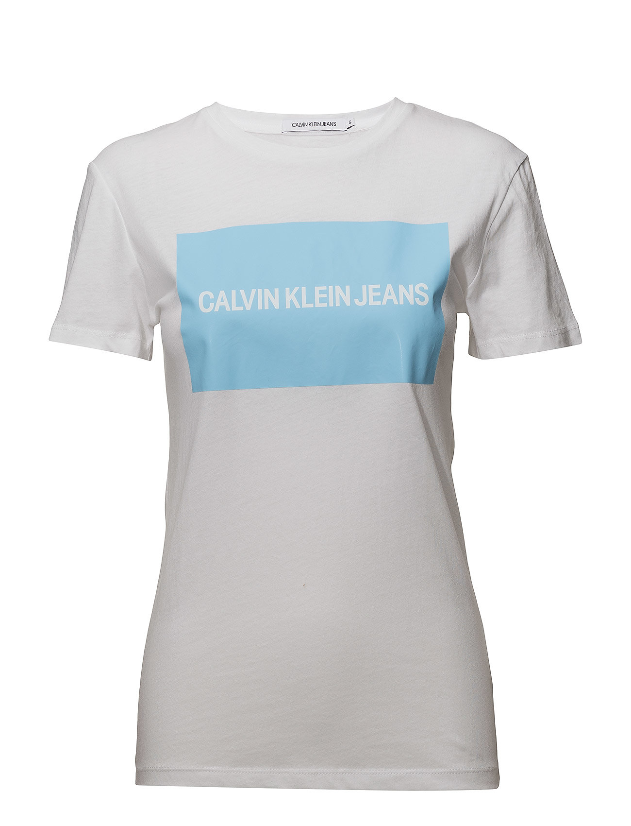 4ea5dba30 Calvin Klein Jeans Institutional Box Logo Regular Fit Tee (Bright ...