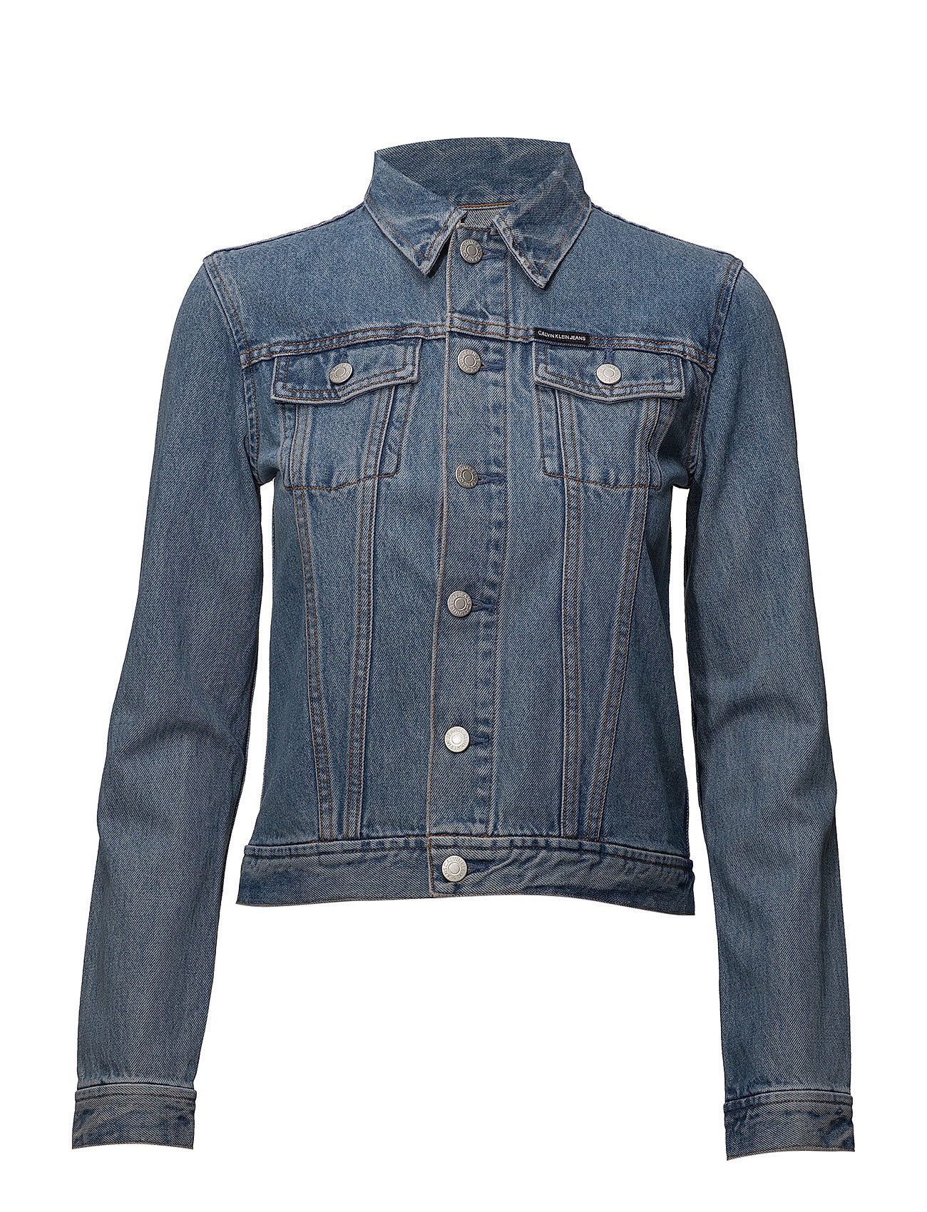 Calvin Klein Jeans Clean line trucker - LYON BLUE WITH PATCH