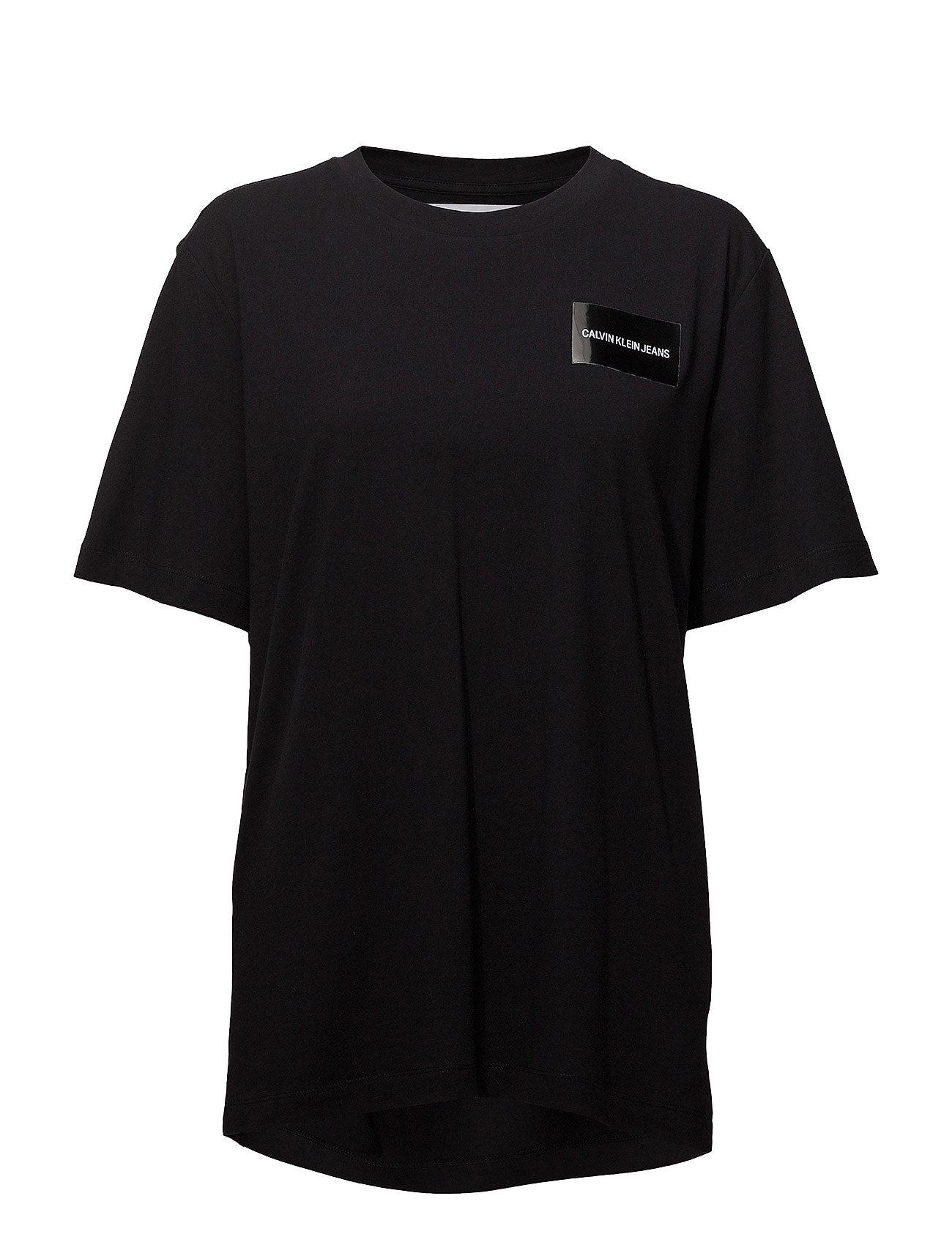 Calvin Klein Jeans GEO SHAPE BOYFRIEND FIT TEE - CK BLACK