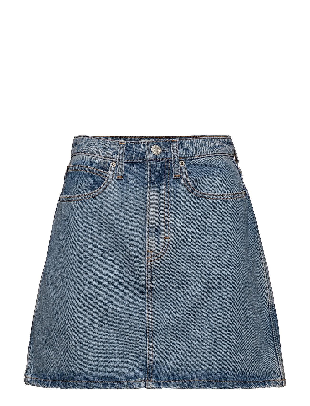 Calvin Klein Jeans HR mini skirt - LIGHT STONE