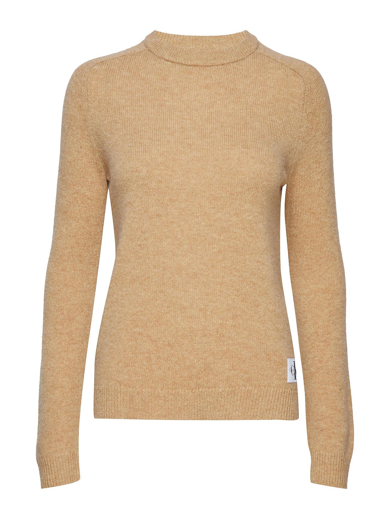 Calvin Klein Jeans SHETLAND WOOL CREW N - TANNIN