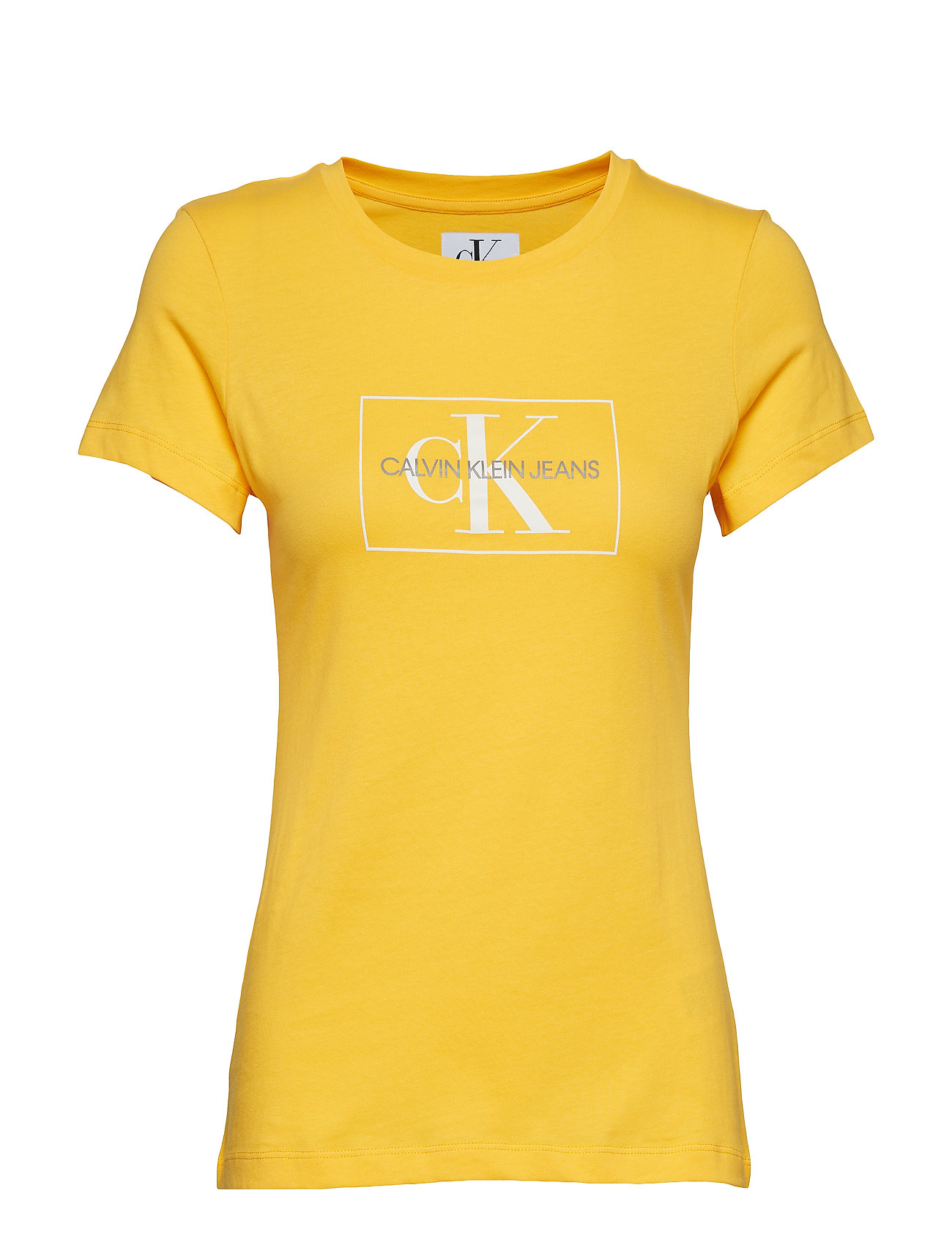 Calvin Klein Jeans OUTLINE MONOGRAM SLI - LEMON