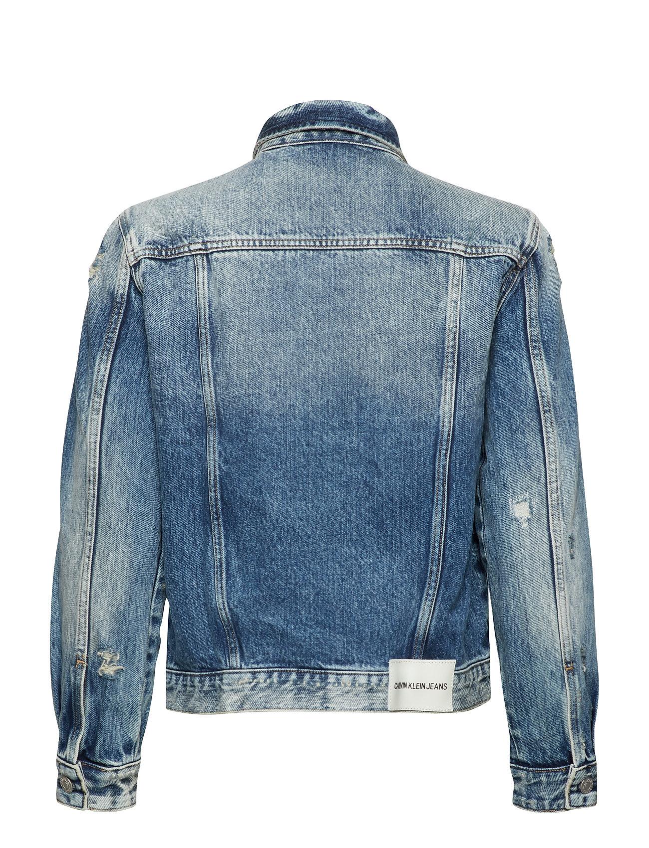 Foundation Trucker O Jakke Denimjakke Blå Calvin Klein Jeans