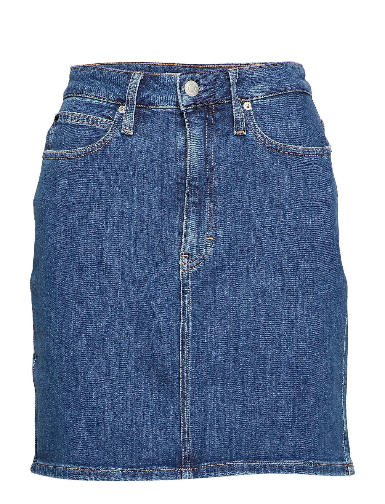 Calvin Klein Jeans HR MINI SKIRT - RODEO BLUE
