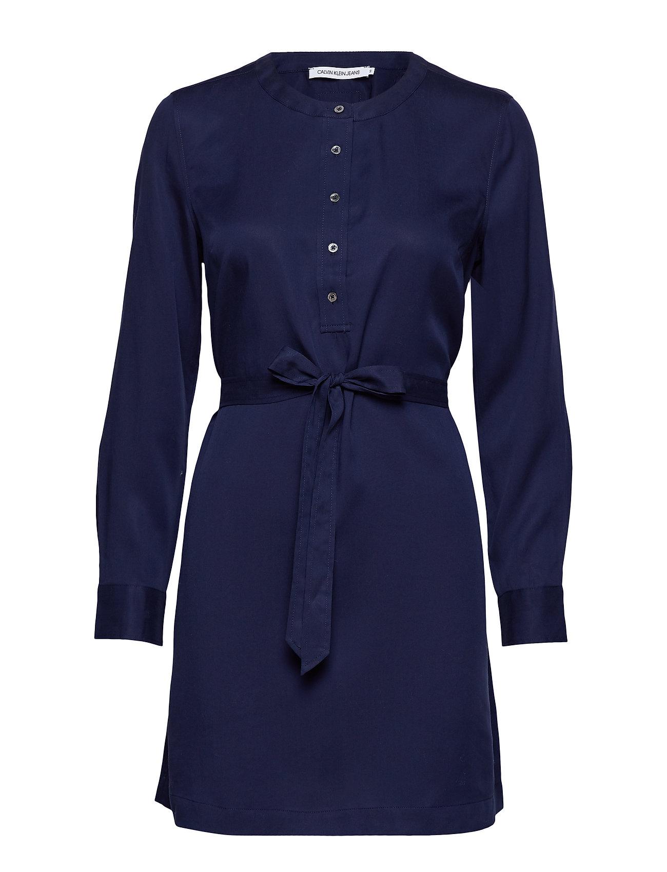 Calvin Klein Jeans TENCEL TIE DRESS LS,