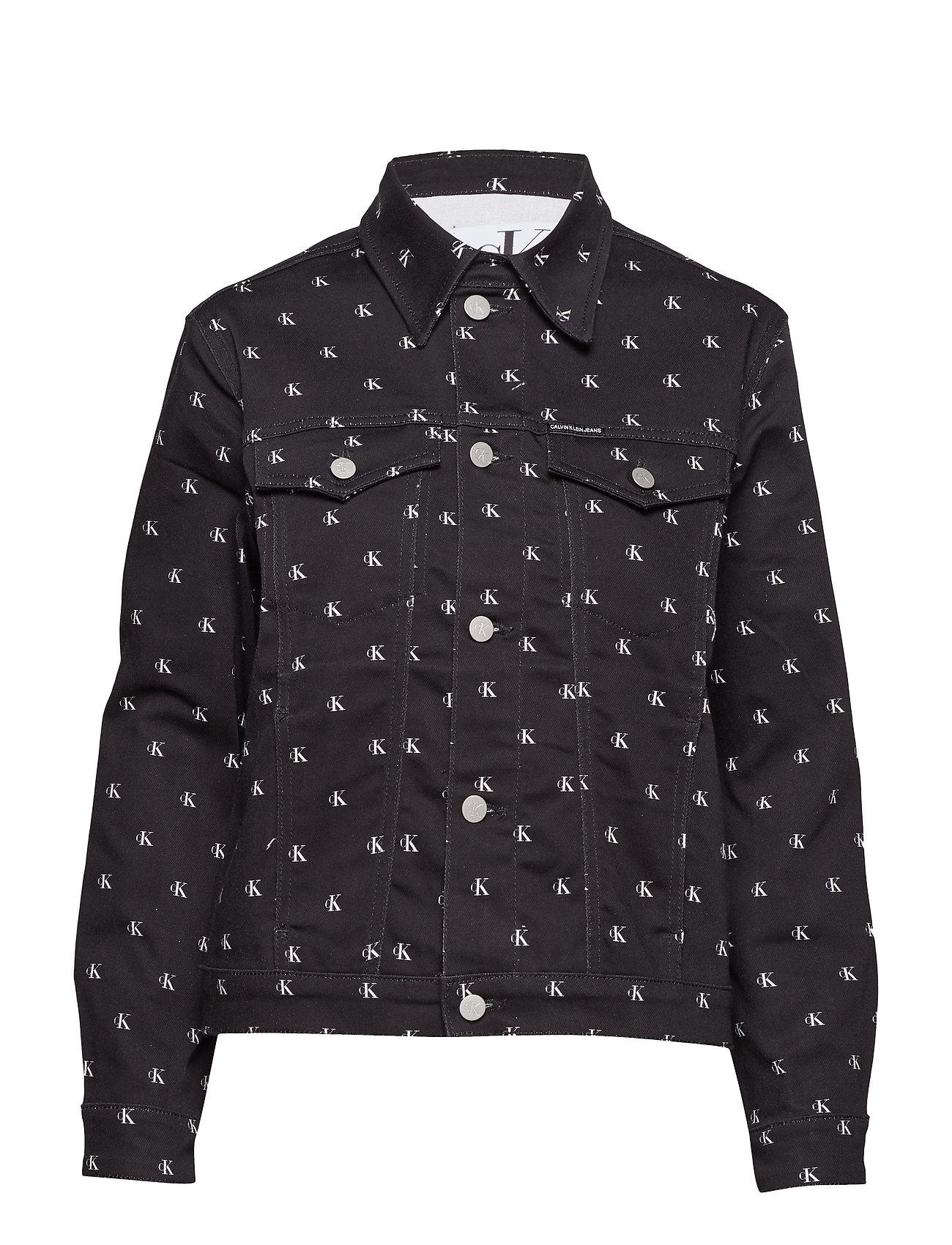 Calvin Klein Jeans FOUNDATION TRUCKER - BLACK MONOGRAM