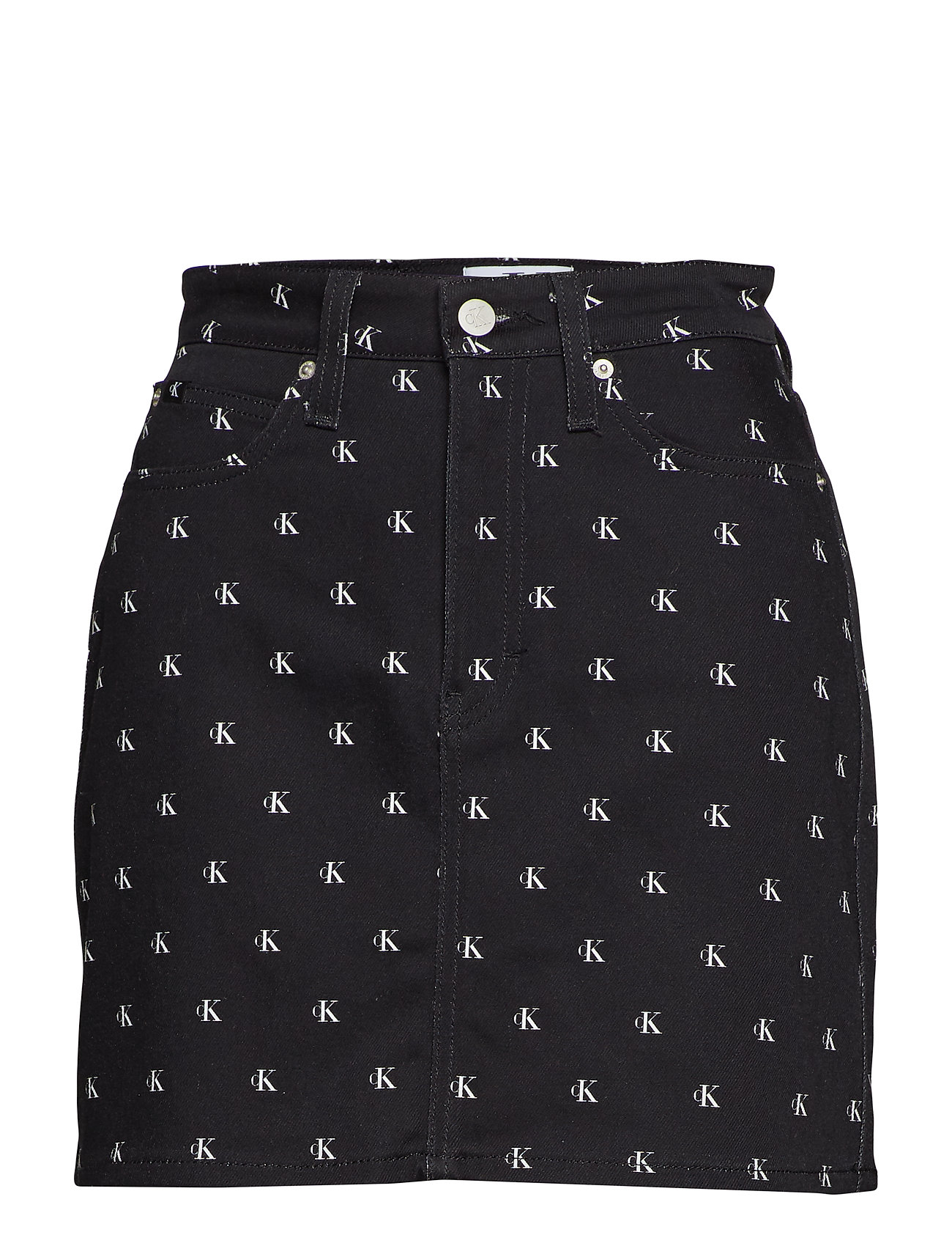 Calvin Klein Jeans HIGH RISE SKIRT - BLACK MONOGRAM