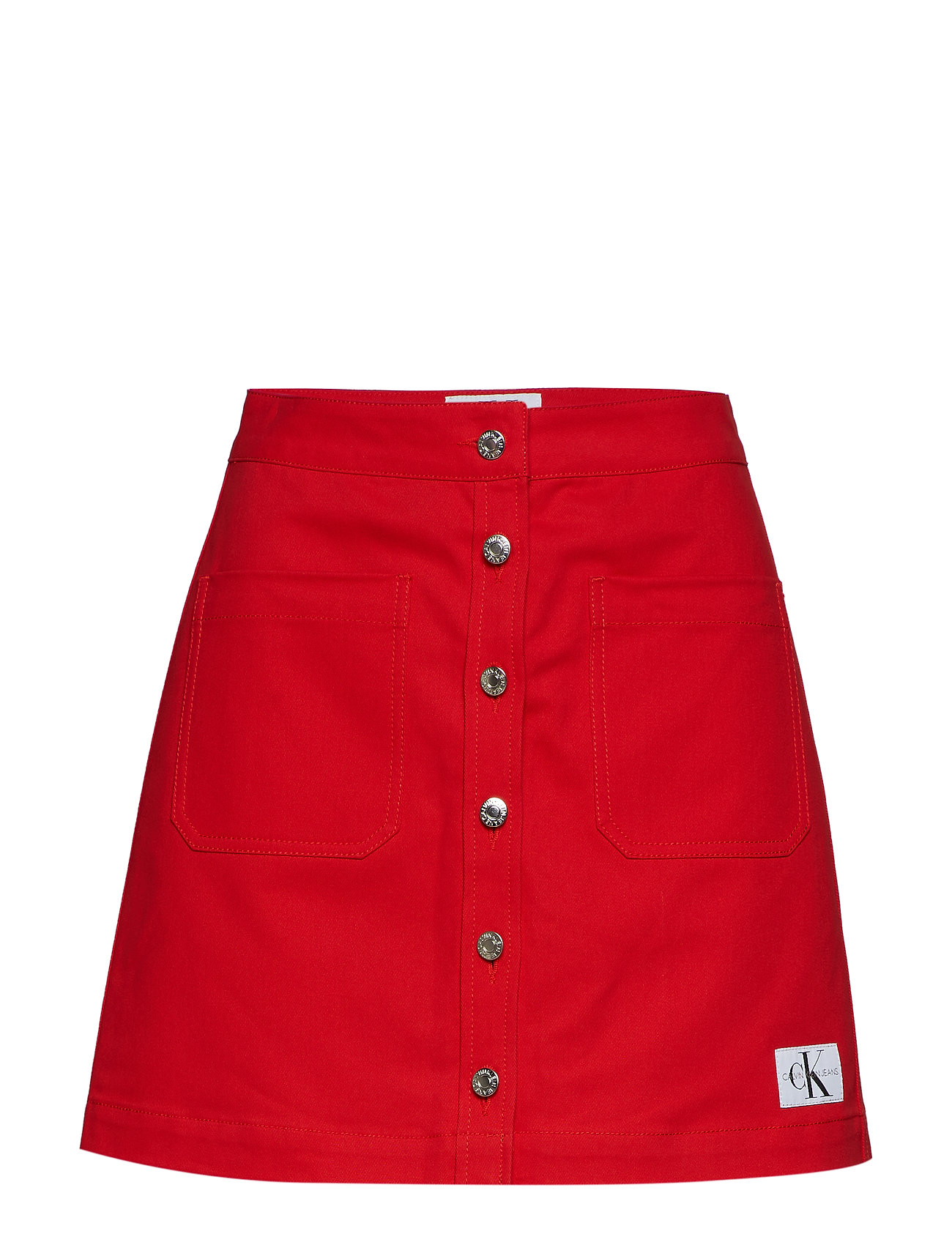 Cotton Skracing Jeans RedCalvin Twill Klein Mini LqzVGSpUM