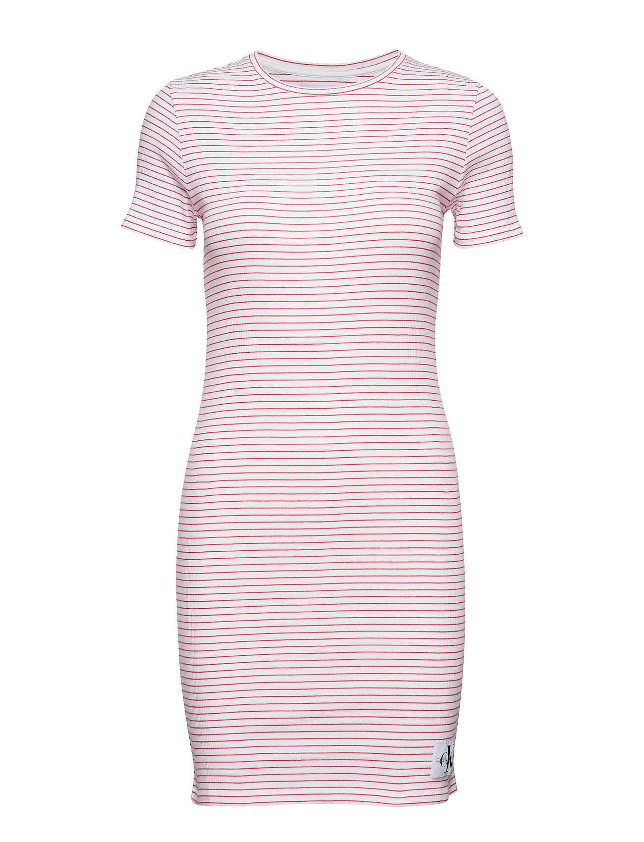 Calvin Klein Jeans RIB SHORT SLEEVE DRESS