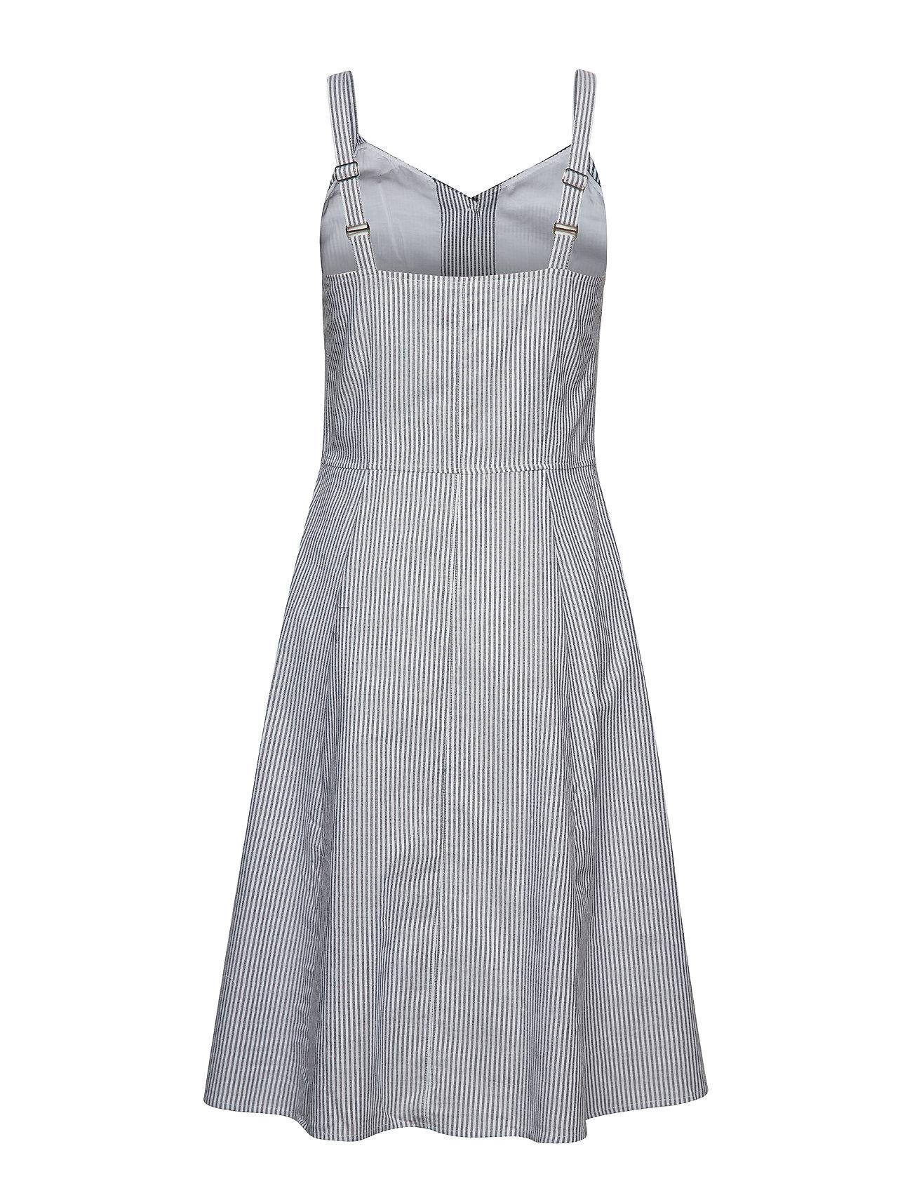 WhiteBlack Midi Button Dressbright Klein Stripe Down StripesCalvin Jeans rdCsxhtQ