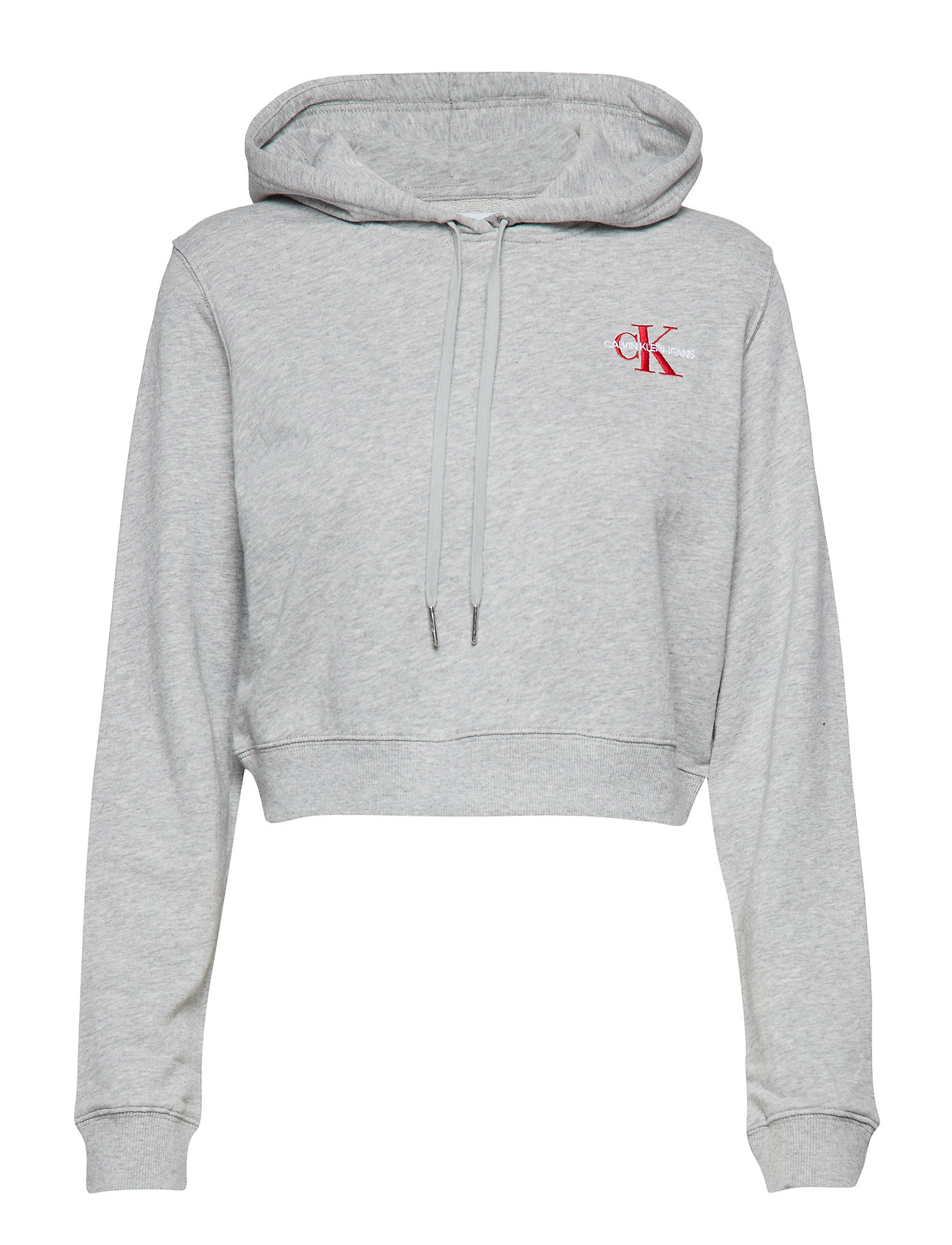 Calvin Klein Jeans MONOGRAM EMBROIDERY - LIGHT GREY HEATHER/BARBADOS CH