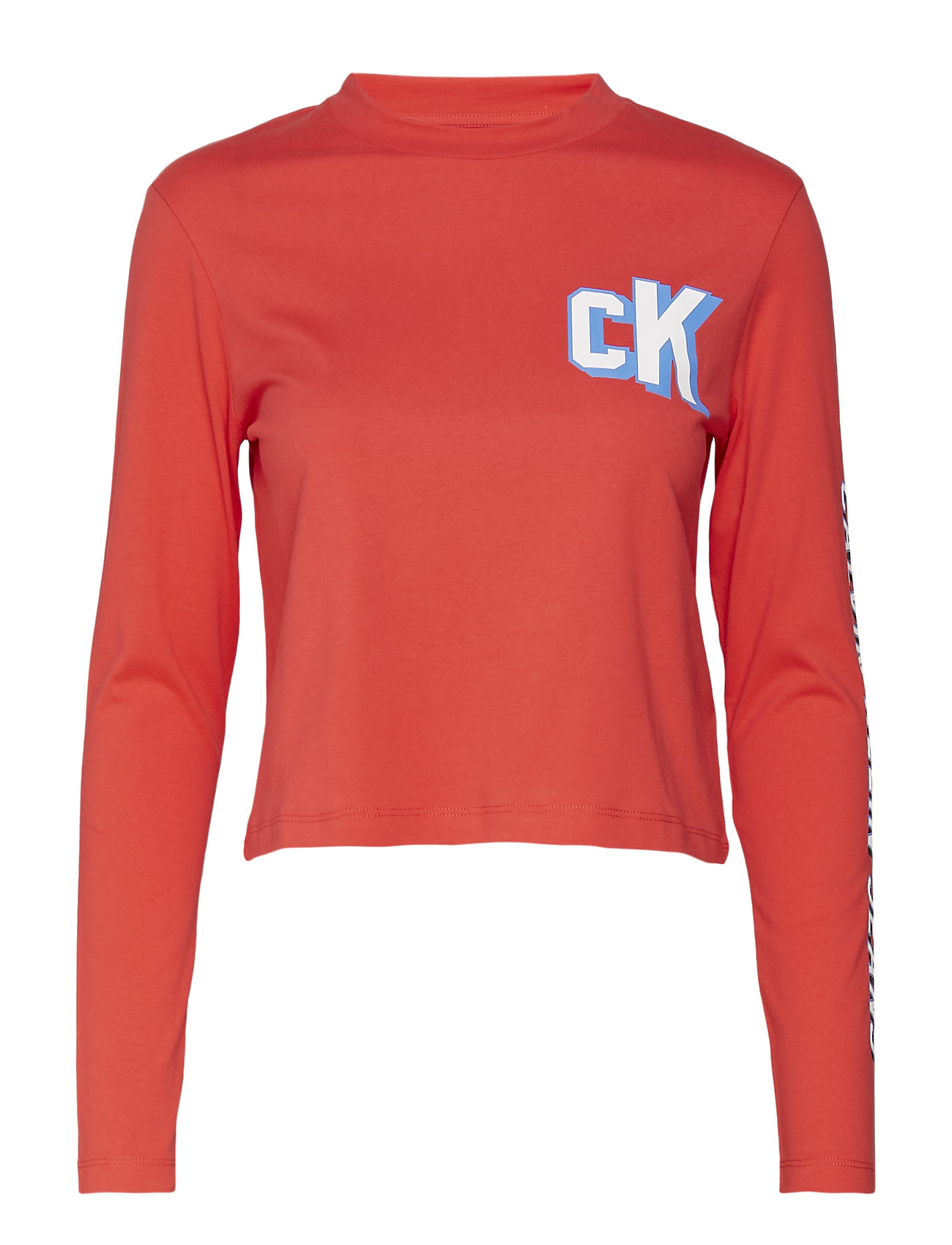 Sleeve Jeans Cropped Klein Ls TeetomatoCalvin Logo OPkiuTwZX