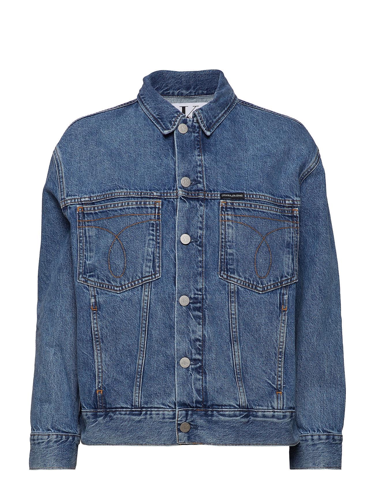 Calvin Klein Jeans OVERSIZED ICONIC OMEGA TRUCKER - ICONIC MID STONE
