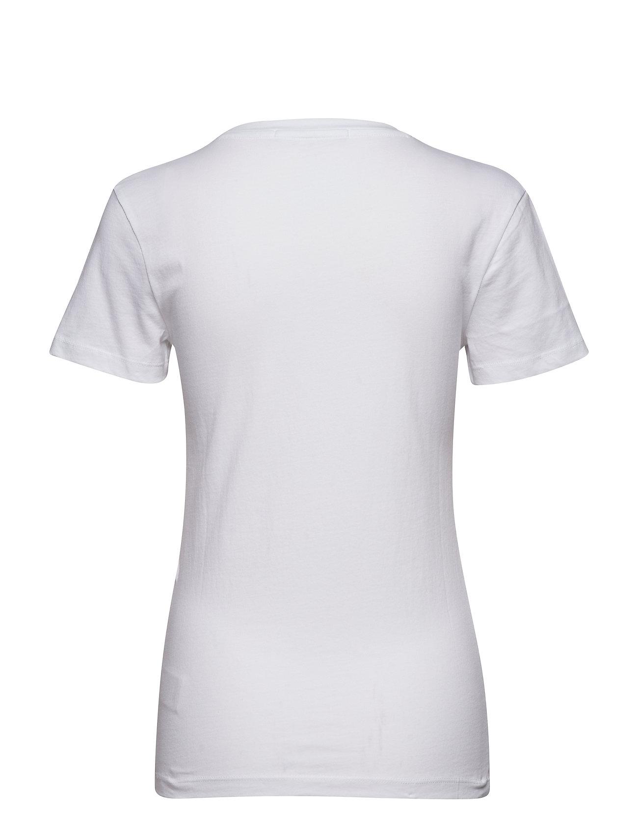 Chain Stitch Inst. L T shirt Top Hvid CALVIN KLEIN JEANS