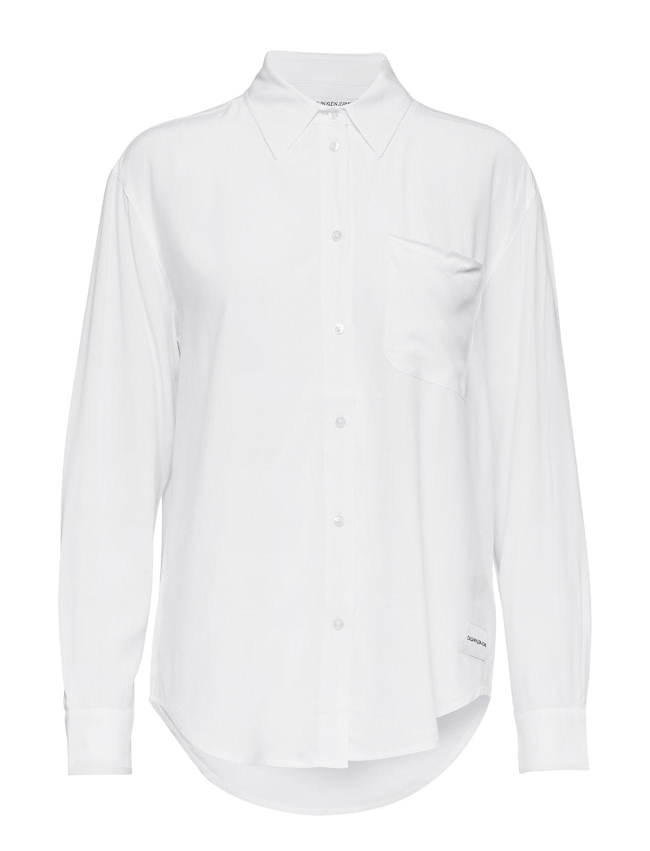 Drapey Klein Relaxed WhiteCalvin Shirtbright Jeans n8wP0Ok