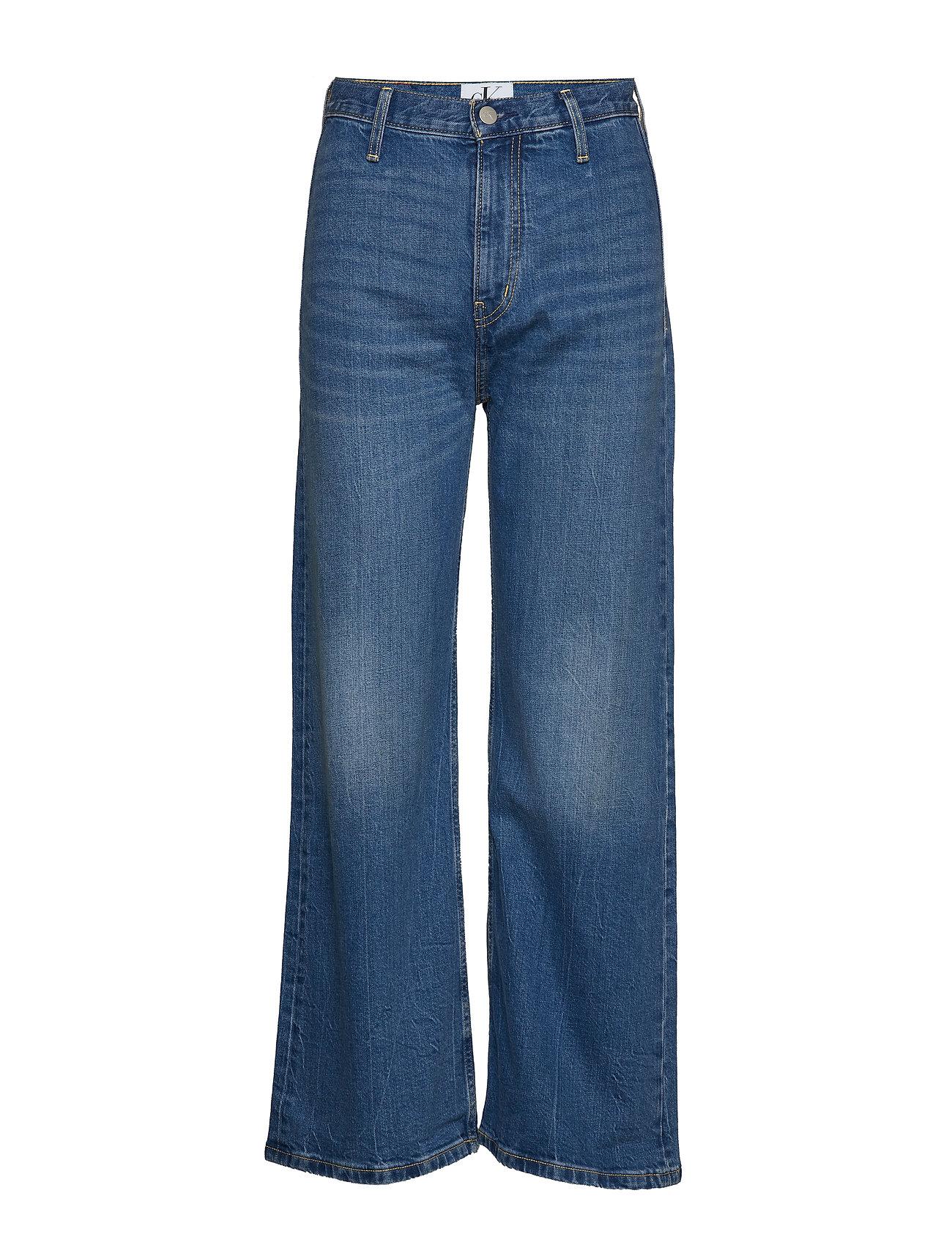 Calvin Klein Jeans WIDE LEG ANKLE - AA030 MID BLUE