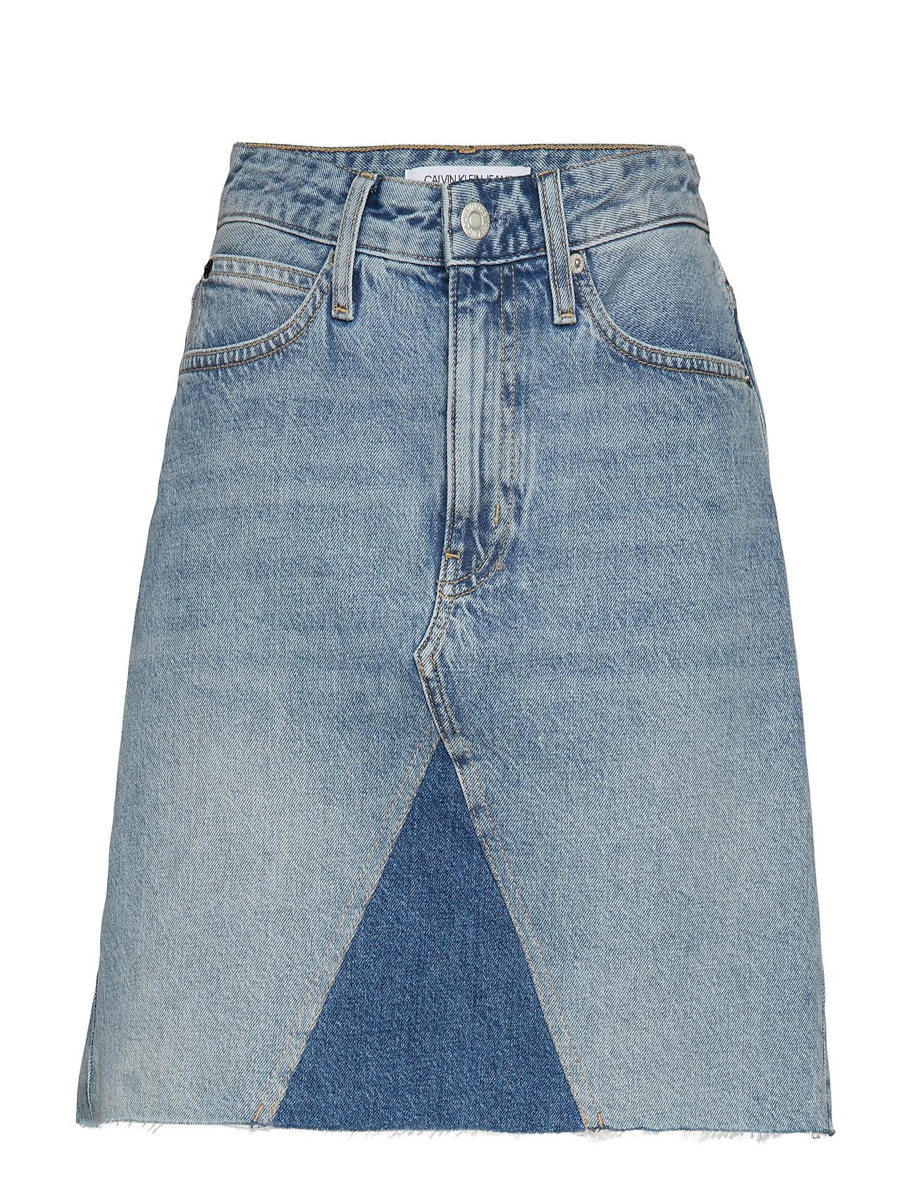 Calvin Klein Jeans MID RISE MINI SKIRT, - AA035 LIGHT BLUE WITH PRAIRIE