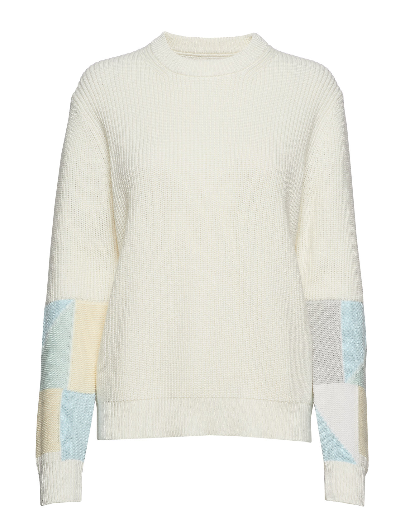 Calvin Klein Jeans PATCHWORK SWEATER, 0 - EGRET