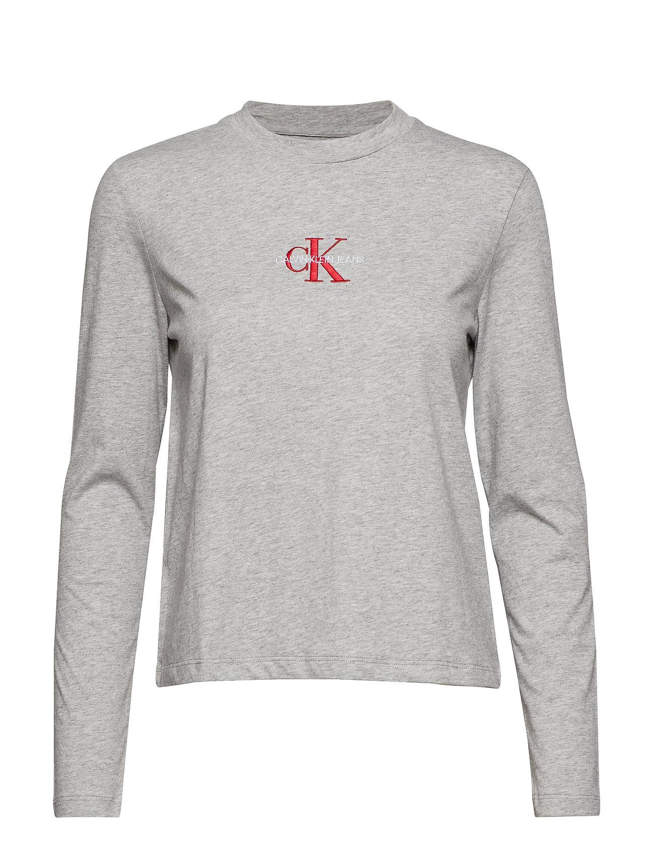 Calvin Klein Jeans MONOGRAM EMBROIDERY, - LIGHT GREY HEATHER