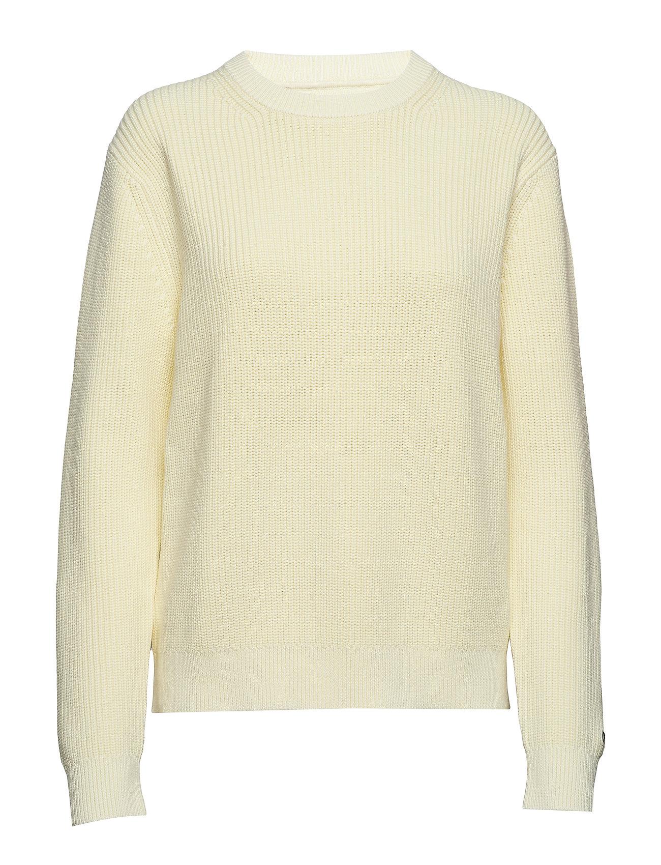 CALVIN KLEIN Cotton Garment Washe Strickpullover Gelb CALVIN KLEIN JEANS