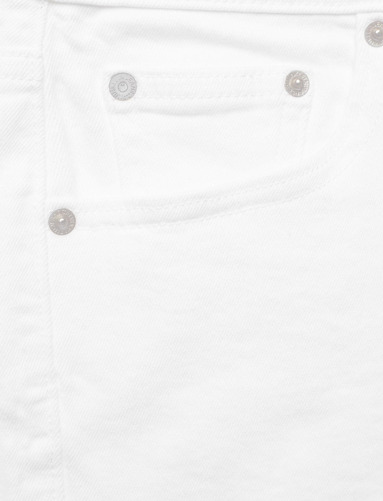 Raw Shortpop White BlueCalvin Weekend Klein Mid Rise Jeans Embroidery zVUGpSqM