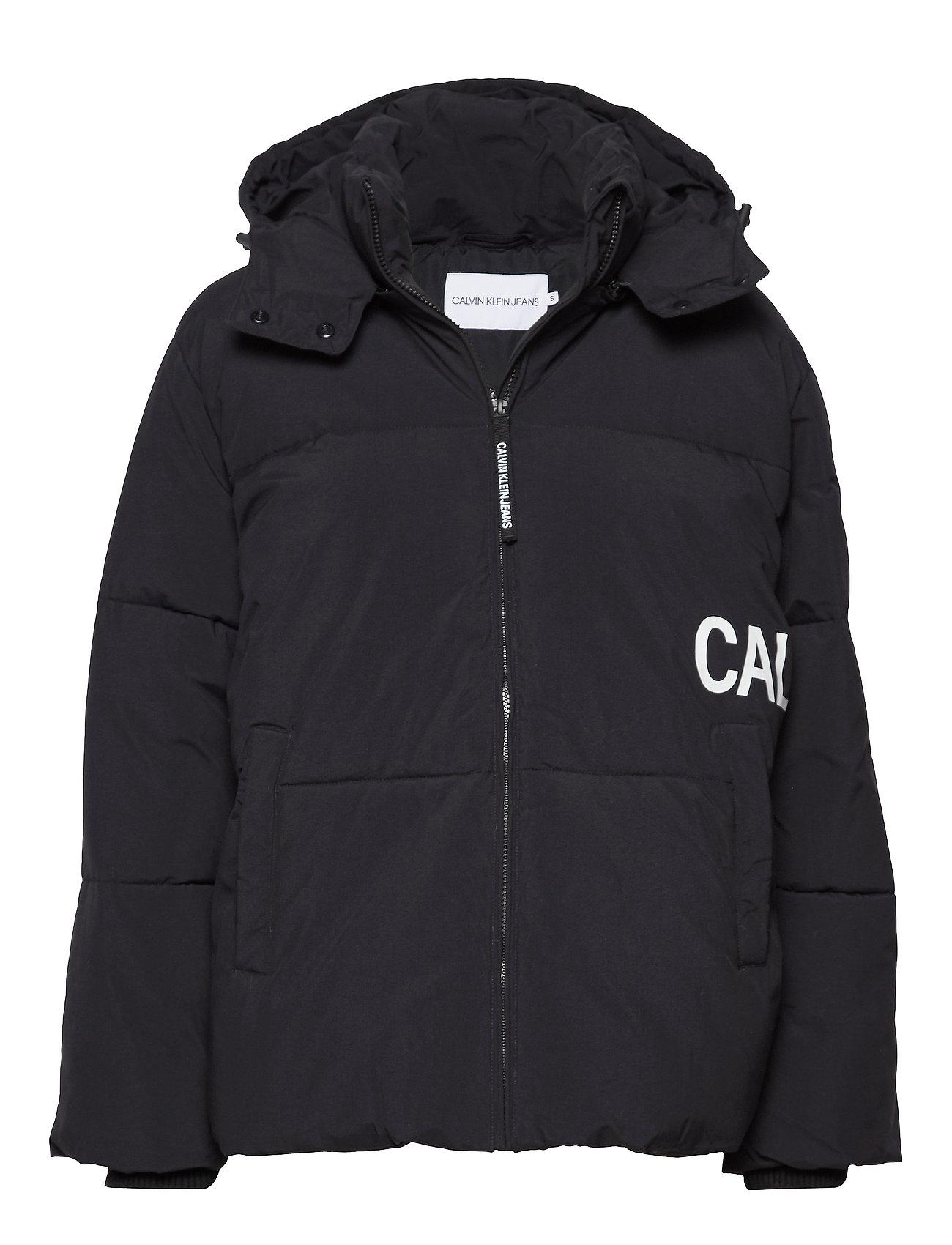 Calvin Klein Jeans OVERSIZED LOGO PUFFER - CK BLACK