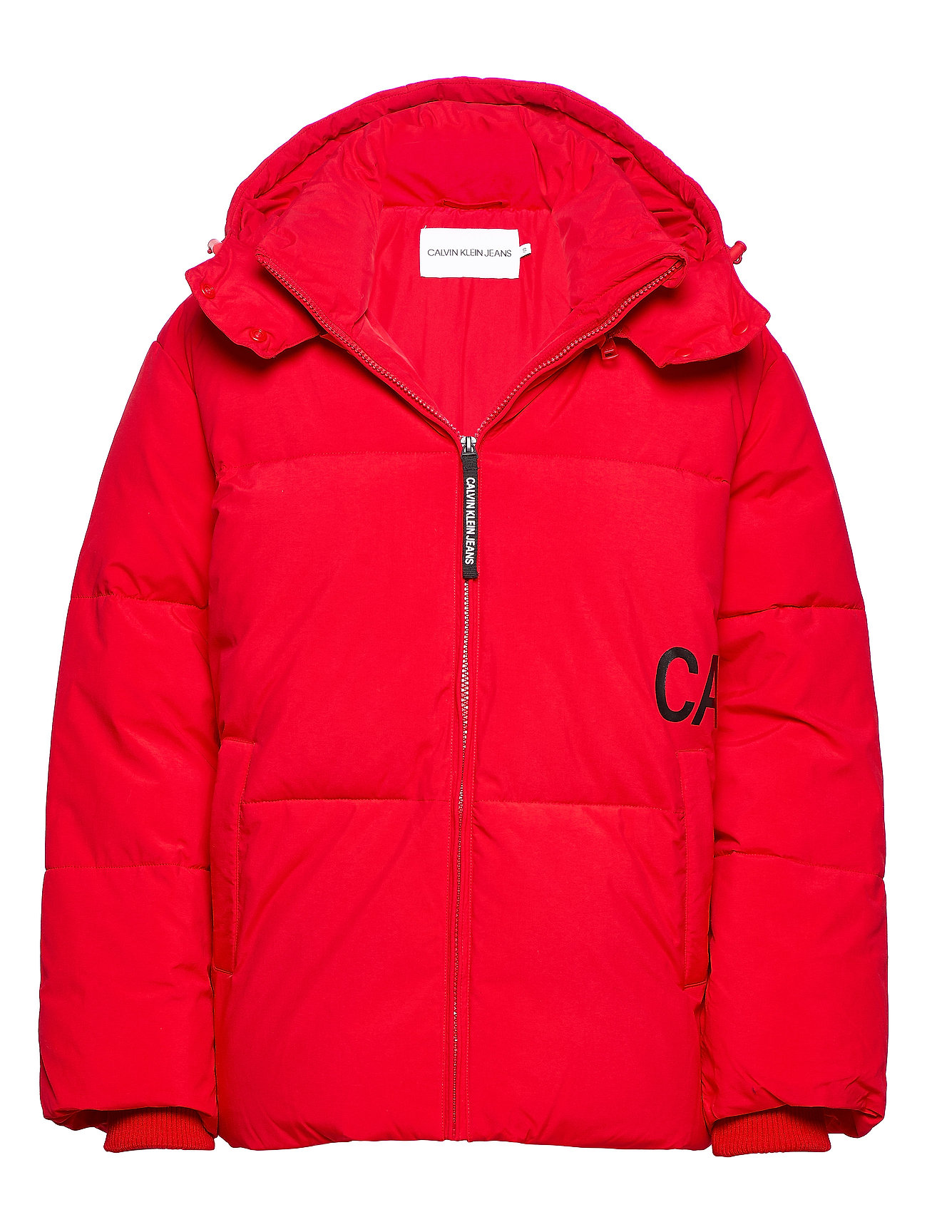 Calvin Klein Jeans OVERSIZED LOGO PUFFER - RACING RED