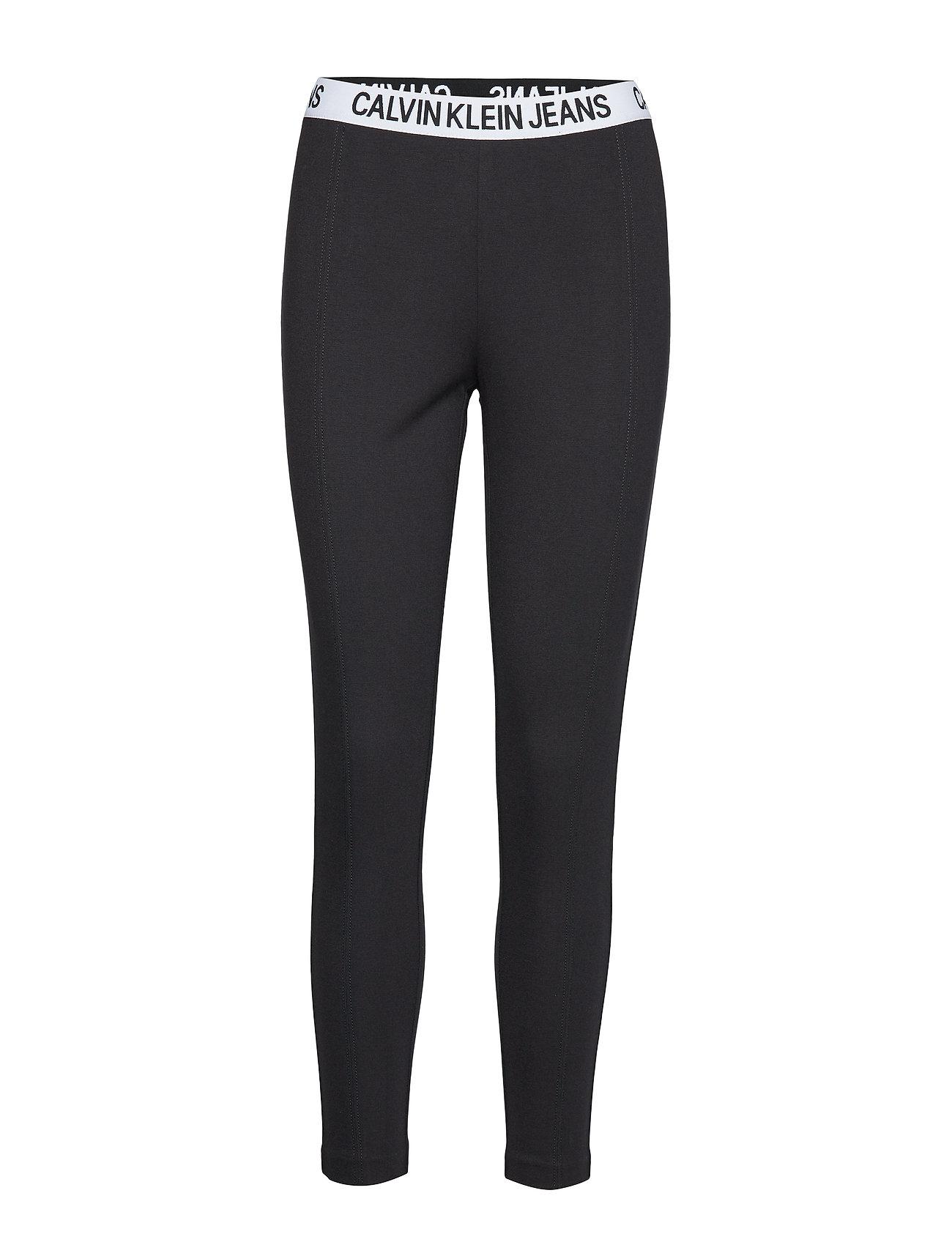 Calvin Klein Jeans MILANO LEGGINGS - CK BLACK