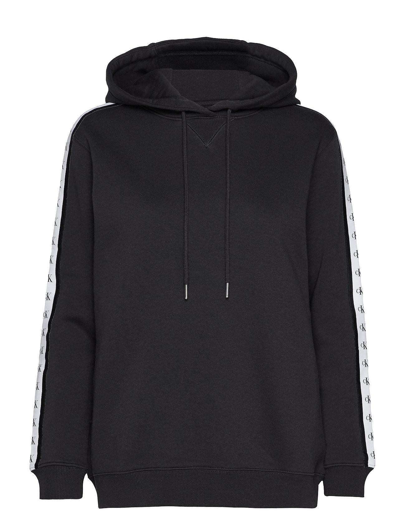 Calvin Klein Jeans MONOGRAM TAPE HOODIE - CK BLACK